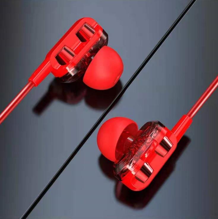 四核双动圈重低音通用入耳式耳麦